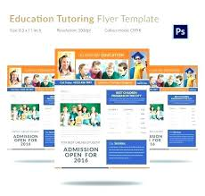 tutor flyer templates free free daycare flyer templates open enrollment template