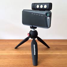 the ball adaptor on the tripod allows for the mounting plate to be angled once the push on on the side of the tripod ball is pressed