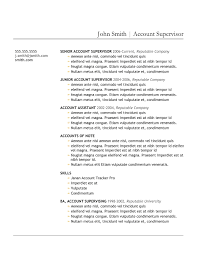Professional Resume Templates 2015 Best Resume Format For 2015 With Simple Resume Template Free