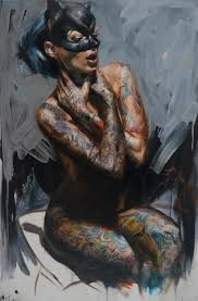 painter s mesmerising oil portraits of tattooed rock