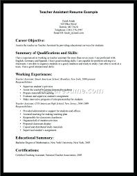 Here Are Teacher Assistant Resume Teacher Assistant Resume Sample