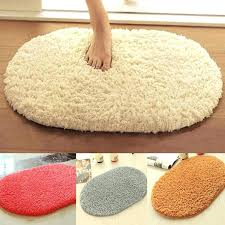 fluffy bathroom mats bathroom carpets absorbent soft memory foam doormat floor rugs oval non slip bath fluffy bathroom mats