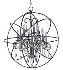 maxim 25145oi orbit 9 light 30 inch oil rubbed bronze single tier chandelier ceiling light