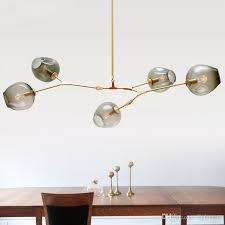 nordic personalized dna molecular glass pendant lamp post modern minimalist guest house chandelier villa bubble ball pendant light chandelier pendant lamp