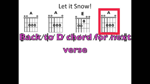 Let It Snow Moving Chord Chart