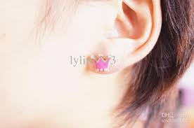 2018 fashion jewelry multicolour oil painting tiara crown neon stud earring metal gold plate earrings teenage hot from lylin3313 28 55 dhgate com