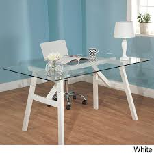 glass top office table chic. brilliant table the unique and versatile tempered glass top table will enhance your home  with its modern design use this chic for dining or as a office desk intended glass top office table chic