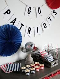 Patriots Super Bowl Party Decorations