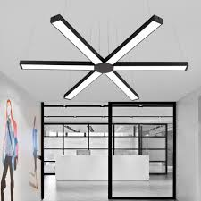 office pendant light. Smuxi Modern Office LED Pendant Light Linear Lamp Hang Bar Droplight For Conference Room Home Study G