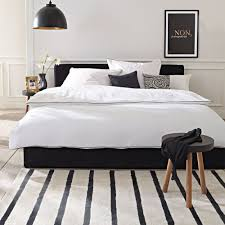 Schwarzes Bett Black Bed Impressionen Schlafzimmer Home