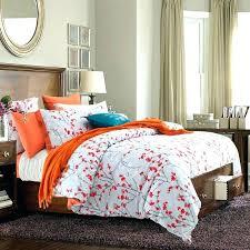 orange duvet cover king and white bedding for elegant household single orang