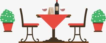 restaurant table clipart. Unique Table Restaurant Dining Table Potted Red Chair PNG Image And Clipart To Restaurant Table T