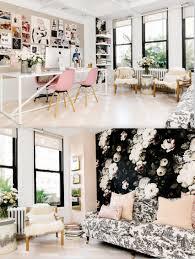 office decor inspiration. #dream #home #office #pink #wallpaper #flower #floral #black Office Decor Inspiration O