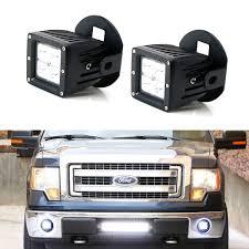 2006 Ford F150 Fog Light Bulb Size Led Pod Light Fog Lamp Kit For 2006 14 Ford F150 2011 14 Lincoln Mark Lt 2 20w Cree Led Cubes Fog Location Mounting Brackets Wiring Harnesses