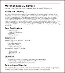 Porter Resume Examples Merchandiser Cv Sample Myperfectcv