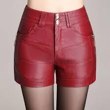 details about womens slim pu leather shorts hot pants high waist las pants shorts plus size