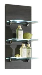 5419 Badezimmer Wandregal Regal Led Beleuchtung Glasböden Malaga