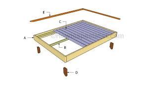 Full size platform bed plans | Free bed frame plans | Full bed frame ...
