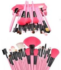 24 piece professional pink glory makeup brush set overstock clearance save 90