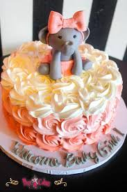 Pink Elephant Baby Shower Diaper Cake Pink Elephant BabyOwl Baby Shower Cakes For A Girl