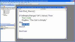 Excel Macro Vba Tip 26 Stop Cancel Or Close A Macro Using Vba In