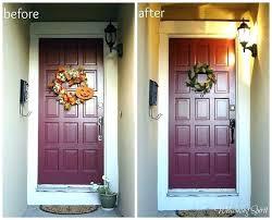 how to paint a wooden front door repainting front door after painted wooden front doors how