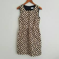 Red Valentino Leopard Floral Print Dress Italy 44
