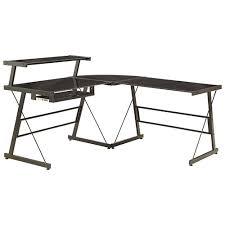 l shaped corner desk. Broderick L-Shaped Corner Desk - Black L Shaped