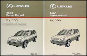 2000 lexus rx 300 wiring diagram manual original 2000 lexus rx 300 repair shop manual original 2 volume set 249 00