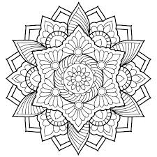 Flower Mandala Coloring Pages For Adults Printable Coloring Pages