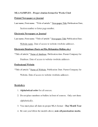 Unusual How To Do Mla Works Cited For Research Paper Museumlegs