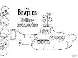 The Beatles Yellow Submarine Platenhoes Kleurplaat Gratis