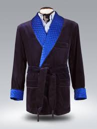 Midnight velvet/royal blue quilted dressing gown | matthewcookson & Midnight velvet/royal blue quilted dressing gown Adamdwight.com