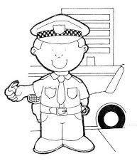 Kleurplaat Politieagent Lego Fantasti Kindergarten Worksheets