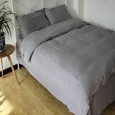 aliexpresscom  buy pcs washed gray natural linen bedding set