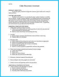 Bakery Clerk Job Description For Resume Resume For Bakery Job Therpgmovie 81