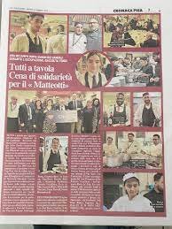 """Tutti a tavola. Cena di solidarietà per il """"Matteotti"""" – I.P.S.A.R. Matteotti  Pisa"""