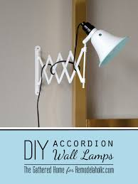 diy accordion wall lamps