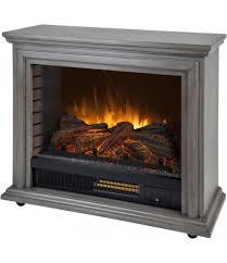 pleasant hearth sheridan mobile infrared fireplace dark weathered grey