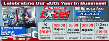 New Xcell Auto Repair Excel Auto Coupons On Oil Change Alignment And Wiper Blade