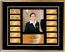 Employee Of The Month Photo Frame Employee Of The Month Frame Award Gold And Gold Horizontal
