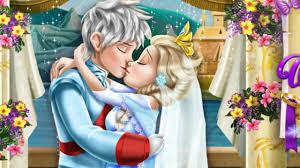 maxresdefault elsa wedding kiss frozen princess games kissing game youtube on elsa wedding kiss