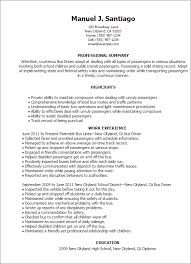 Resume Templates: Bus Driver