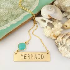 gold filled mermaid bar necklace gallery photo gallery photo