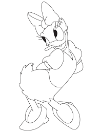 Small Picture Cute Cartoon Daisy Duck Coloring Page H M Coloring Pages