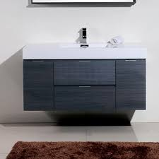 Modern Bathroom Vanity Wade Logan Tenafly 48 Single Wall Mount Modern Bathroom Vanity