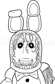 How To Draw Withered Bonnie Step 11 Kiddo In 2019 Coloring