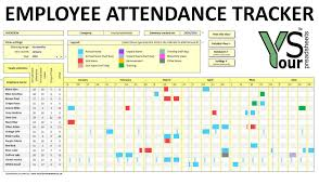 attendance spreadsheet excel employee attendance tracker spreadsheet youtube