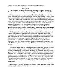 5 Paragraph Essay Examples Examples Of A 5 Paragraph Essay Under Fontanacountryinn Com