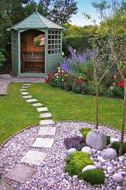 Small Picture Pic Neat small garden design with seat in gazebo lawn border